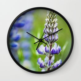 Lupine Wall Clock