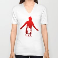 arsenal V-neck T-shirts featuring Mesut Ozil by Sport_Designs