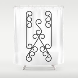 """Letter """"W"""" in beautiful design Fashion Modern Style Shower Curtain"""