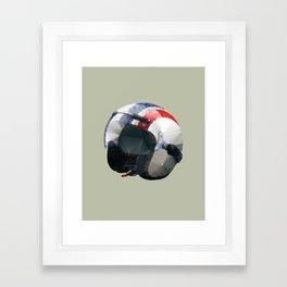 Tag Heuer Steve McQueen Cafe Racer Helmet Polygon Art Framed Art Print