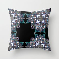 Internal Kaleidoscopic Daze-15 Throw Pillow