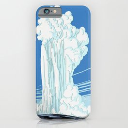 Vintage Yellowstone National Park Travel iPhone Case