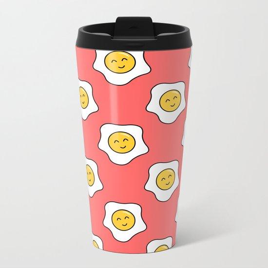 Happy Eggy Metal Travel Mug