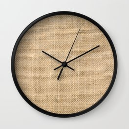 Burlap Fabric Wall Clock