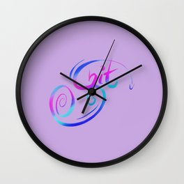 Shiit! Typography Callagraphy Swear Word Wall Clock