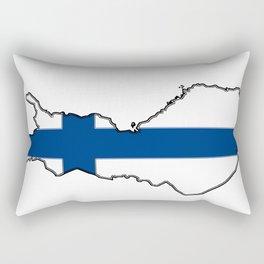 Finland Map with Finnish Flag Rectangular Pillow