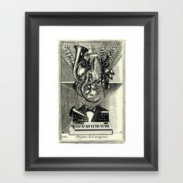 Lithography 6  /ANALOG ZINE Framed Art Print