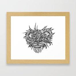 Face Flow Line Framed Art Print