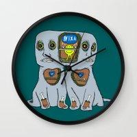 gemini Wall Clocks featuring Gemini by NIXA