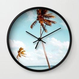 Dominican Republic Palm Beach Wall Clock