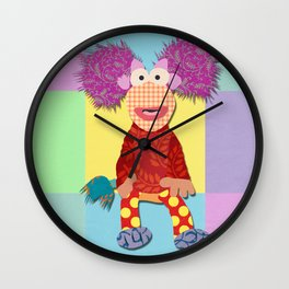 red fraggle Wall Clock