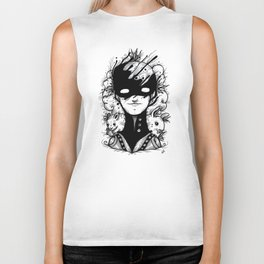 Guardians of the Woods (Black & White Version) Biker Tank