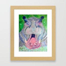 Pretty Hippo Framed Art Print