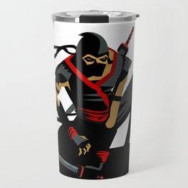 ninja warrior and full moon Travel Mug