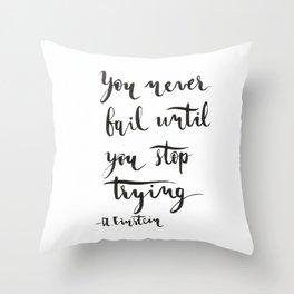 Einstein Calligraphy quote Throw Pillow