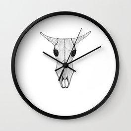 Ox Skull Wall Clock