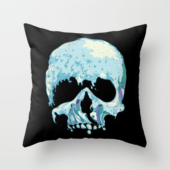 Silent Wave Throw Pillow
