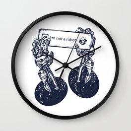 Robot hands Wall Clock