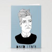 david lynch Stationery Cards featuring David Lynch by Elena Éper