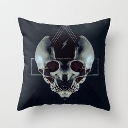 Triskull Throw Pillow