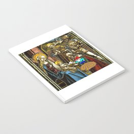 Will the Wandering Gnome Shares a White Hat with Jesus (Gnome Art) (Christmas Art) Notebook