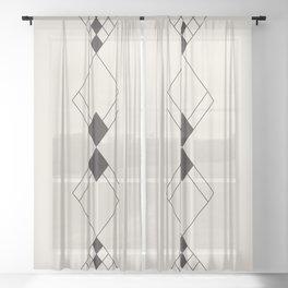 Minimal Geometry - Black and White Sheer Curtain