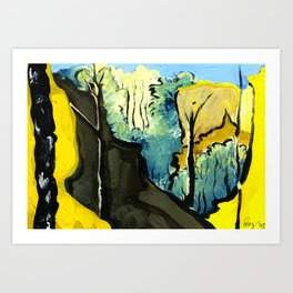 Golden Gully Art Print