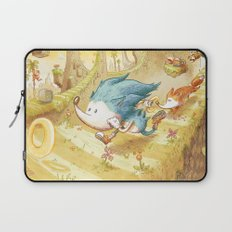 Starring Sonic and Miles 'Tails' Prower (Yellow Version) Laptop Sleeve