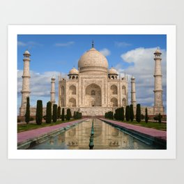 The magnificent Taj Mahal. Art Print