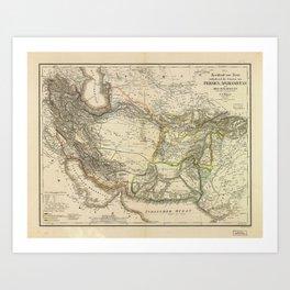 Map of Persia circa 1847 (Afghanistan, Pakistan, Iran) Art Print