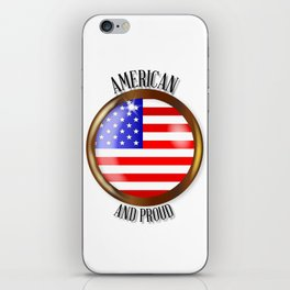 American Proud Flag Button iPhone Skin