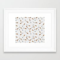 cigarettes Framed Art Prints featuring Cigarettes by Abby Galloway