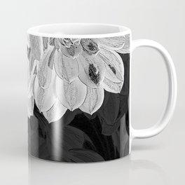 Elegant Black and White Flowers Design Coffee Mug
