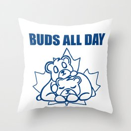 Buds All Day Throw Pillow