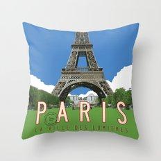 Paris 2 Travel Poster Throw Pillow