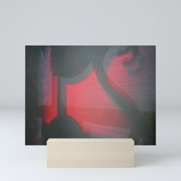 TRANSITORY RED LIGHT SHADOW ABSTRACT Mini Art Print