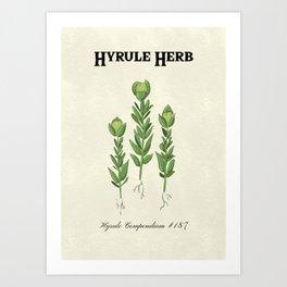 Hyrule Herb Botanical Print Art Print