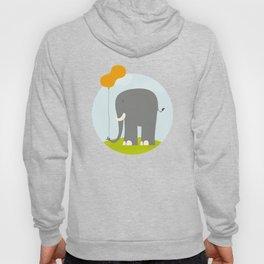 An Elephant With a Peanut Balloon Hoody