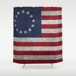 Betsy Ros Flag Shower Curtain