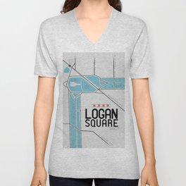 Chicago's Logan Square Unisex V-Neck