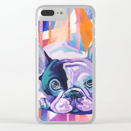 Frenchie Puppy Clear iPhone Case