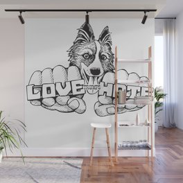 Love trumps hate. Wall Mural