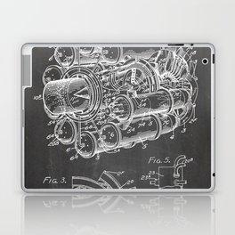 Airplane Jet Engine Patent - Airline Engine Art - Black Chalkboard Laptop & iPad Skin