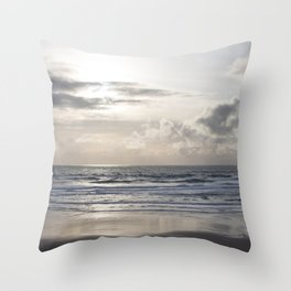 Silver Scene Throw Pillow