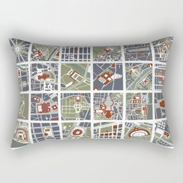 Urban fragments I of NewYork, Paris, London, Berlin, Rome and Seville Rectangular Pillow