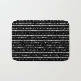 barbed wire stripe - black Bath Mat