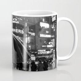 Black and white street photography - Toronto city nightlife Coffee Mug
