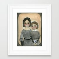 sisters Framed Art Prints featuring Sisters by Debra Styer