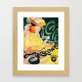 Vintage Art Nouveau Cafe Ad Framed Art Print