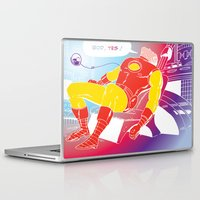 tony stark Laptop & iPad Skins featuring God Yes! says Tony Stark by Hoboxia
